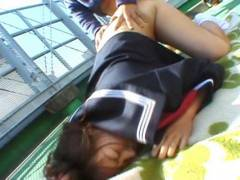 Chubby Misa Kashigawi screwed outdoors