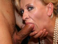 MILF teaches young couple to stuff hard